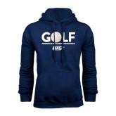 Navy Fleece Hoodie-Stacked Golf Design