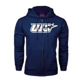 Navy Fleece Full Zip Hoodie-UIS