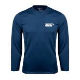 Performance Navy Longsleeve Shirt-UIS