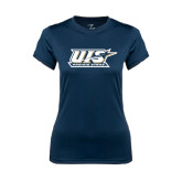 Ladies Syntrel Performance Navy Tee-UIS Prairie Stars