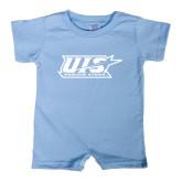 Light Blue Infant Romper-UIS Prairie Stars - Official Logo
