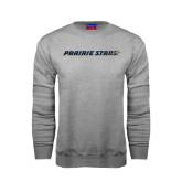 Grey Fleece Crew-Prairie Stars - Flat
