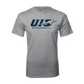 Grey T Shirt-Baseball