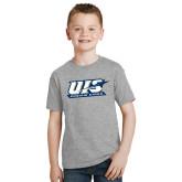 Youth Grey T-Shirt-UIS Prairie Stars
