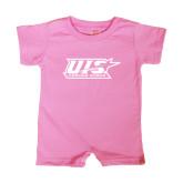 Bubble Gum Pink Infant Romper-UIS Prairie Stars - Official Logo