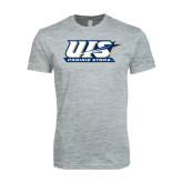 Next Level SoftStyle Heather Grey T Shirt-UIS Prairie Stars