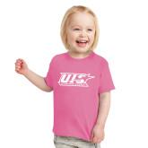 Toddler Fuchsia T Shirt-UIS Prairie Stars - Official Logo