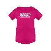 Fuchsia Infant Onesie-UIS Prairie Stars - Official Logo