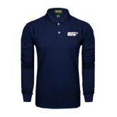 Navy Long Sleeve Polo-UIS