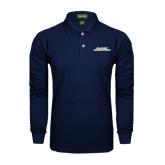 Navy Long Sleeve Polo-Illinois Springfield