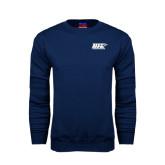 Navy Fleece Crew-UIS Prairie Stars