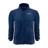 Fleece Full Zip Navy Jacket-Prairie Stars - Stacked