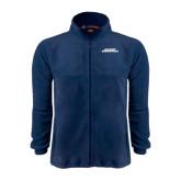 Fleece Full Zip Navy Jacket-Illinois Springfield