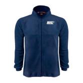 Fleece Full Zip Navy Jacket-UIS Prairie Stars