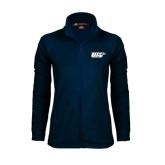 Ladies Fleece Full Zip Navy Jacket-UIS