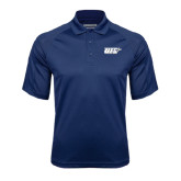 Navy Textured Saddle Shoulder Polo-UIS