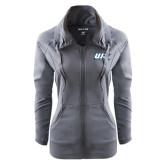 Ladies Sport Wick Stretch Full Zip Charcoal Jacket-UIS Prairie Stars