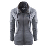 Ladies Sport Wick Stretch Full Zip Charcoal Jacket-Illinois Springfield