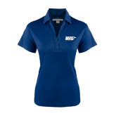 Ladies Navy Performance Fine Jacquard Polo-UIS