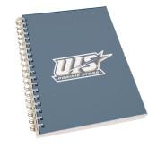 Clear 7 x 10 Spiral Journal Notebook-UIS Prairie Stars - Official Logo