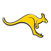 Large Decal-Roo, 12 in W