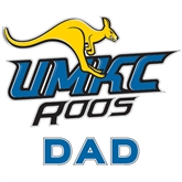 Dad Decal-UMKC Roos w/Roo, 6 in W