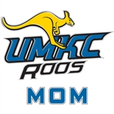 Mom Decal-UMKC Roos w/Roo, 6 in W