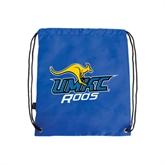 Nylon Royal Drawstring Backpack-UMKC Roos w/Roo