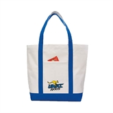 Contender White/Royal Canvas Tote-UMKC Roos w/Roo
