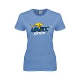 Ladies Arctic Blue T Shirt-UMKC Roos w/Roo