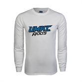 White Long Sleeve T Shirt-UMKC Roos