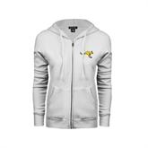 ENZA Ladies White Fleece Full Zip Hoodie-Roo