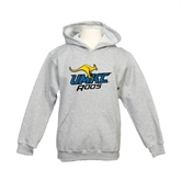 Youth Grey Fleece Hood-UMKC Roos w/Roo
