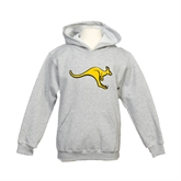 Youth Grey Fleece Hood-Roo
