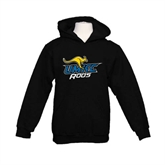 Youth Black Fleece Hood-UMKC Roos w/Roo