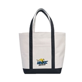 Contender White/Black Canvas Tote-UMKC Roos w/Roo