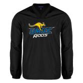 V Neck Black Raglan Windshirt-UMKC Roos w/Roo