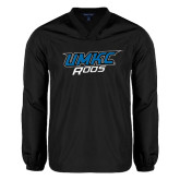 V Neck Black Raglan Windshirt-UMKC Roos