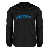 V Neck Black Raglan Windshirt-Roos