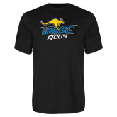 Performance Black Tee-UMKC Roos w/Roo