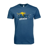 Next Level SoftStyle Indigo Blue T Shirt-UMKC Roos w/Roo