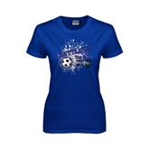 Ladies Royal T Shirt-Battle of the Blue
