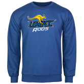 Royal Fleece Crew-UMKC Roos w/Roo
