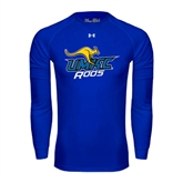 Under Armour Royal Long Sleeve Tech Tee-UMKC Roos w/Roo