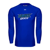 Under Armour Royal Long Sleeve Tech Tee-UMKC Roos