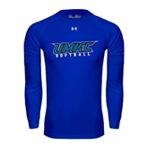 Under Armour Royal Long Sleeve Tech Tee-Softball