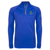 Under Armour Royal Tech 1/4 Zip Performance Shirt-UMKC Roos w/Roo