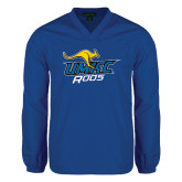 V Neck Royal Raglan Windshirt-UMKC Roos w/Roo