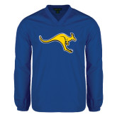 V Neck Royal Raglan Windshirt-Roo