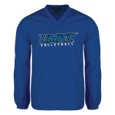V Neck Royal Raglan Windshirt-Volleyball